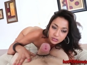 Pov indian slut fingers her pussy and sucks cock
