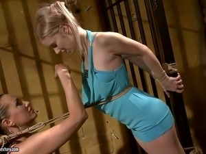 Gorgeous young blonde beauty Nesty with perfect body figure in
