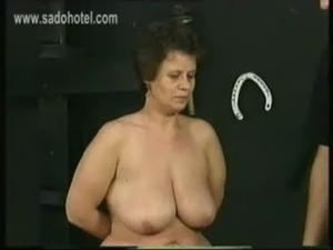 Old german dirty slave with big ass and large tits got hit with a whip on her...