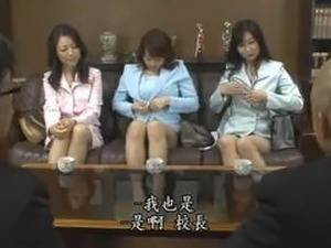 Japanese MILF Teacher Orgy
