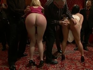 Birthday celebration with public spankings