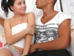 Teen virgin having first sex with black and white guys