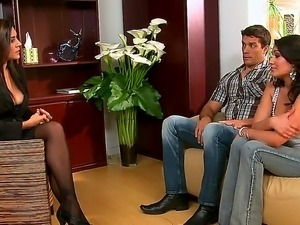 Charley Chase,Ramon and Raylene are enjoying a great hardcore threesome