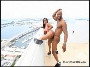 Ebony Big Tit Superstar Maserati XXX Gets Fucked on Balcony free