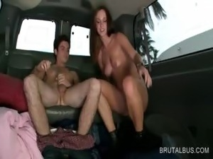 Amazing amateur giving her best BJ in the bus