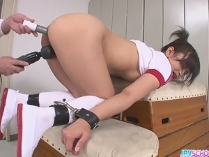 Wanting to stay in the team, pretty Asian chick Aika Hoshino agree to her...
