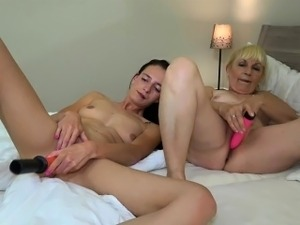 Mature mom and young lesbian girl