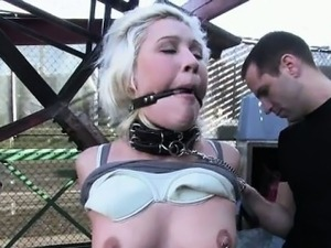 Breasty prisoner used as sex thrall