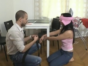 Amateur teen girlfriend tied up and banged by her BFs buddy