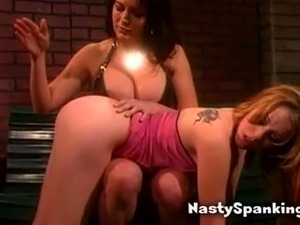 dominatrix spanking cute babe