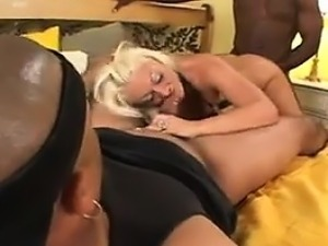 Ugly Blonde In An Interracial Threeway
