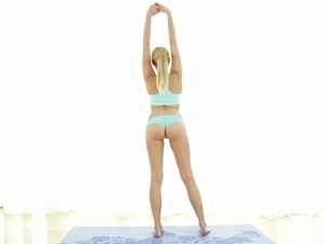 Super flexible beautiful Yoga expert in love
