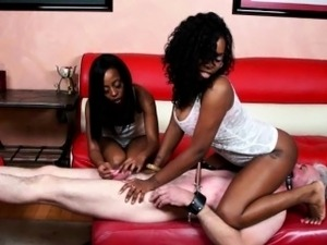Kinky Interracial BDSM session
