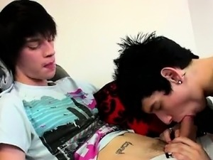Amazing twinks Inked emo Lewis Romeo is the domineering boy
