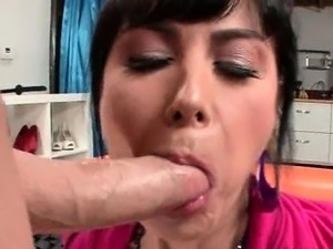Hot boobs mom gets both ass and cunt fucked