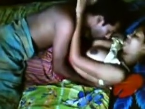A hot sex action was carried out by a young couple on cam