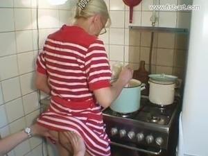 Marcella fisting in the kitchen