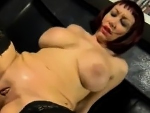 Widowed housewife rides plumber cock