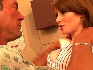 Nikki Rhodes plays the sexy nurse in this video as she sucks her patients...