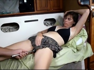 Home made Vibrator Works Wonders on her Pussy
