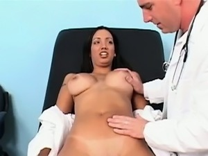 This luscious latina skank was in to have her breasts
