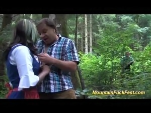 mountain threesome with black skinny