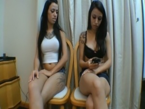 Spit Twins Brazilians Girls free