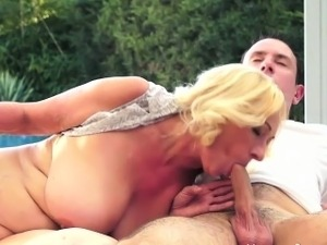 Poolside Granny Likes To Fuck