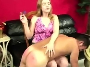 Girlfriend gets spanking horny