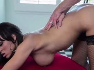 Czech blonde bitch copulated over the table