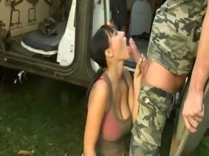 Army Big Beautiful Natural Boobs