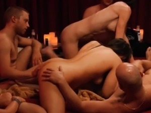 Group of couples swinging around and enjoyed group sex