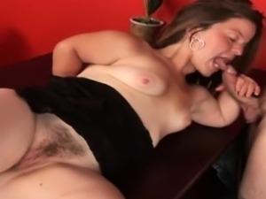Dirty midget blowing cock
