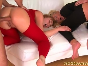 Classy cfnm femdoms assfucked doggystyle