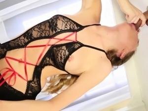Skinny handjob loving slut milking cock