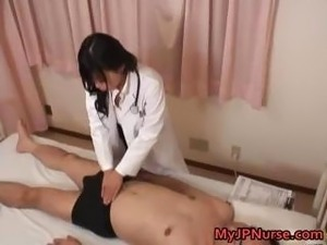 Japanese doctor is horny for cock part4
