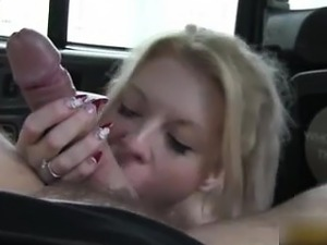 blonde fucked hard in taxi