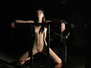 Daily bdsm for skinny maid girl