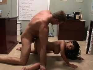 Busty Indian babe gets her cunt slammed