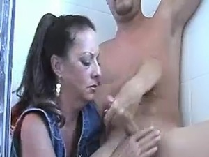 Horny Milf Spits And Dirty-talks While Jacking Him
