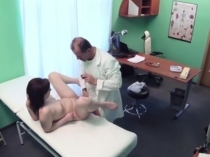 Doctor licks and bangs pale patient