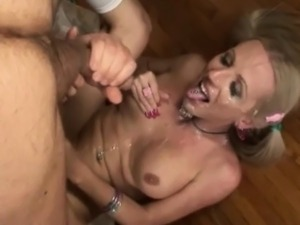 Horny trannies ejaculate big cumshots