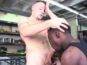 Pretty white gay man receives his anal stuffed by jock