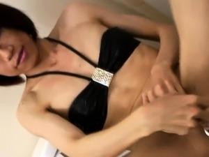 Asian toyloving femboy tease and jerk solo