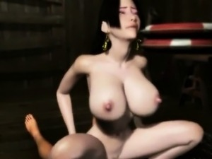 Horny 3D anime girl gets pussy jizzed