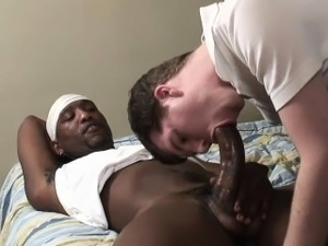 White guy screams as he is getting his first black dick