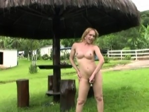 Feminine T-girl with bubble butt masturbates big shecock