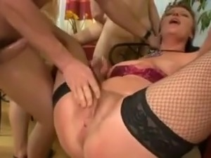 german party with mature and their big saggy tits