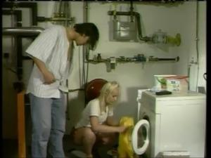 German Laundry Fuck