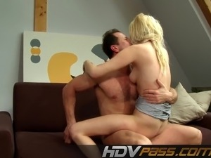Beautiful Blonde Michaele Fucked And Jizzed